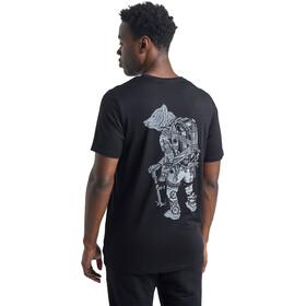Icebreaker Tech Lite SS Crew Shirt Nomad Forever Men, black